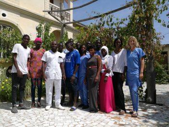 Die Schüler in Gambia