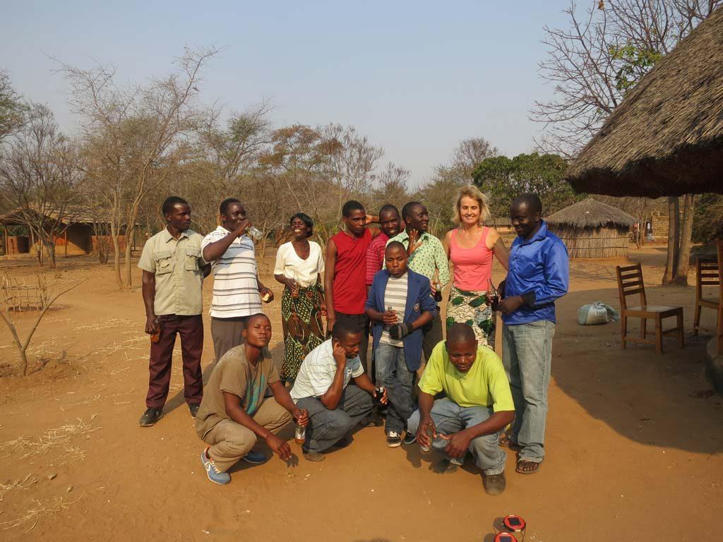Gruppenfoto mit Auszubildenden
