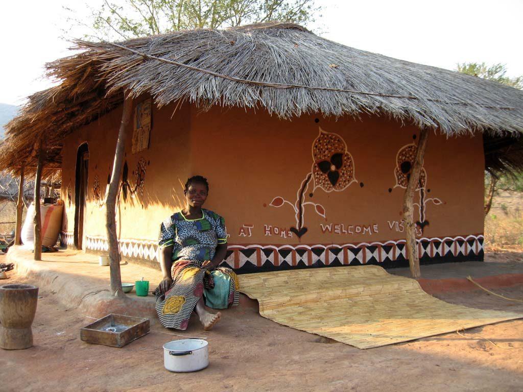 Lehmhütte in Malawi